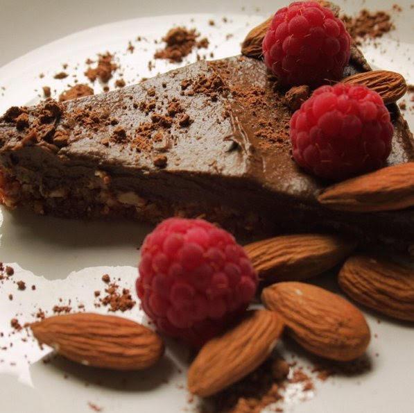 Raw Vegan Avocado Chocolate Cake